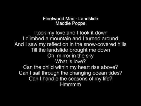 Maddie Poppe - Landslide Lyrics (Fleetwood Mac) American Idol