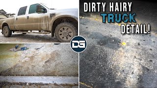 DEEP Cleaning a Super DIRTY Super Duty | Dirty Carpet Cleaning and INSANE Transformation!!
