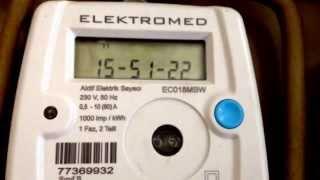 Elektrik sayac 29 1 14 evden cikis