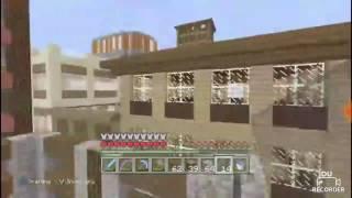 Minecraft survival skyscraper build