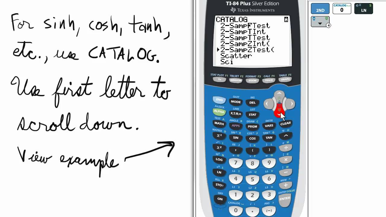 Hyperbolic Trig On Ti 84 Graphing Calculator