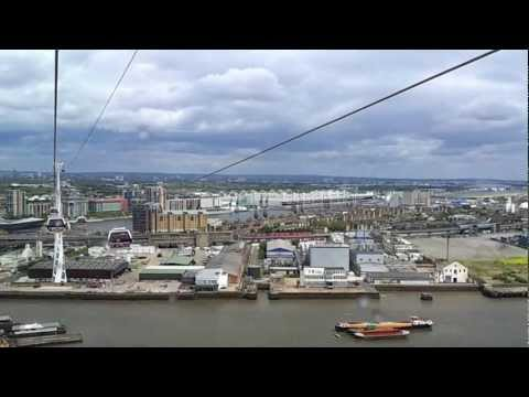 London Fly Emirates Cable Car. Greenwich Peninsula to Royal Docks