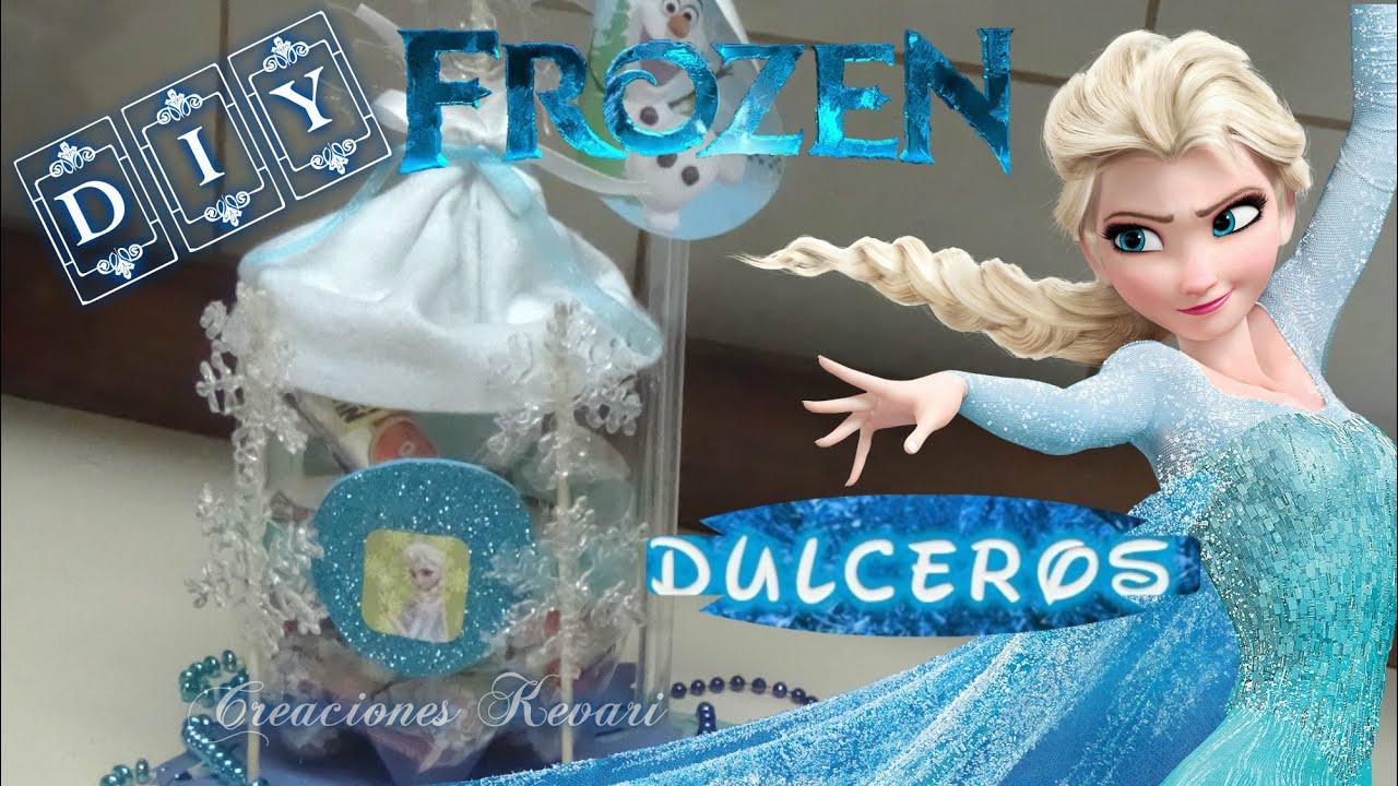 Dulcero de Frozen con material reciclado botellas ...