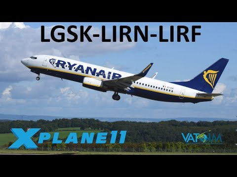 X-Plane 11 | Members Stream!! | B737 | VATSIM | Skiathos, Napoli & Rome!!