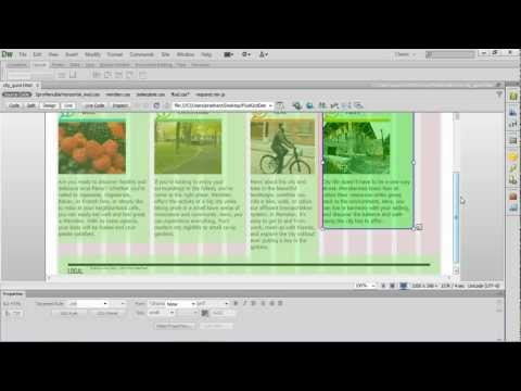 Fluid Grid Layout in Dreamweaver CS6