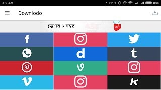 Download any social media app's video। Facebook, Instagram,Twitter,Whatsapp,Dailymotion,Tumblr,Peeks