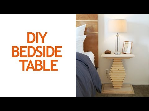 How to build a DIY nightstand or bedside table | Small bedroom ideas