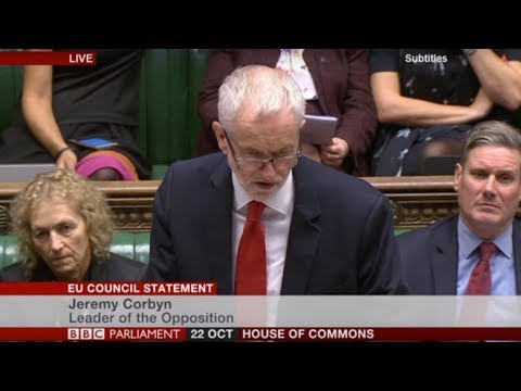 Jeremy Corbyn responds to Theresa May's statement