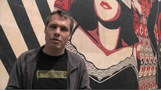 wooster collective interviews shepard fairey on recent work and banksy s first film