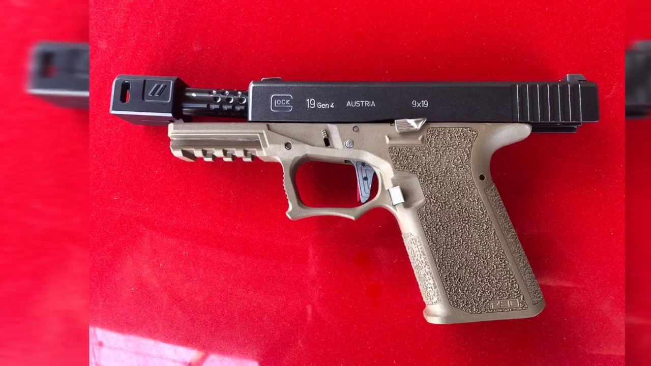 Glock 19 P80 with Zev Barrel dimpled and Comp