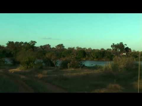 Savanna bush camp at Galana River in amazing savanna landscape