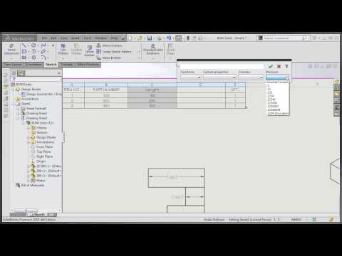 SolidWorks Tutorial - Showing or Switching Units in a BOM