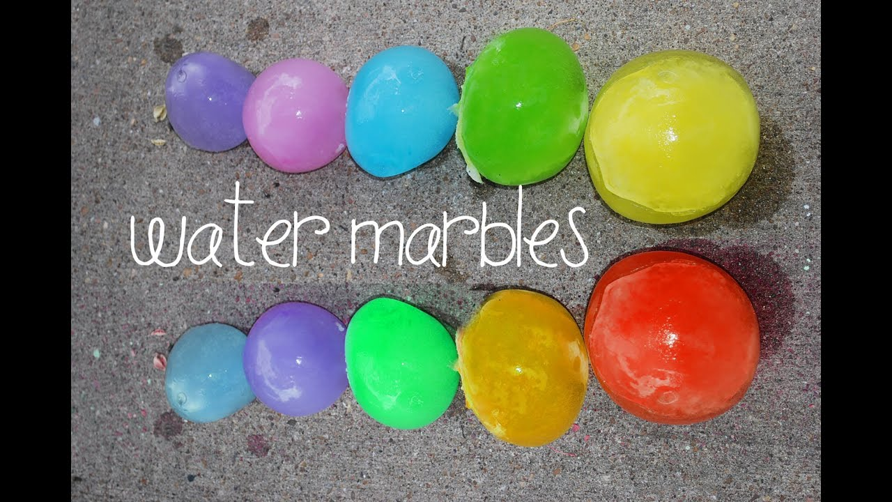 How to make GIANT WATER MARBLES ! - YouTube