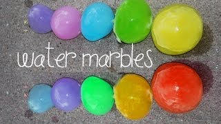 How to make GIANT WATER MARBLES !