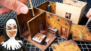 Making Evil Nun Miniature School in Polymer Clay (Altar room)