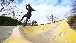 pro skater nabil silmani skate session through france