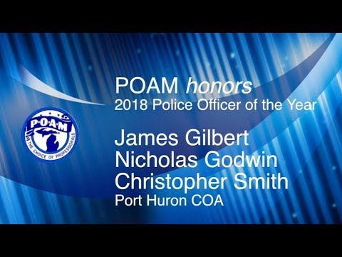 James Gilbert, Nicholas Godwin & Christopher Smith  2018 POAM Police Officer of the Year