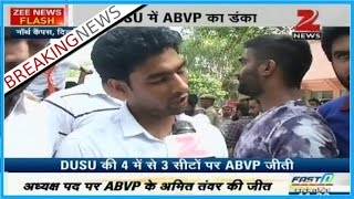 ABVP sweeps DUSU elections with three seats