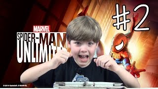 Playing Spider-Man Unlimited (#2) (iPad/iOS/Tablet Gameplay Video) (KID GAMING)