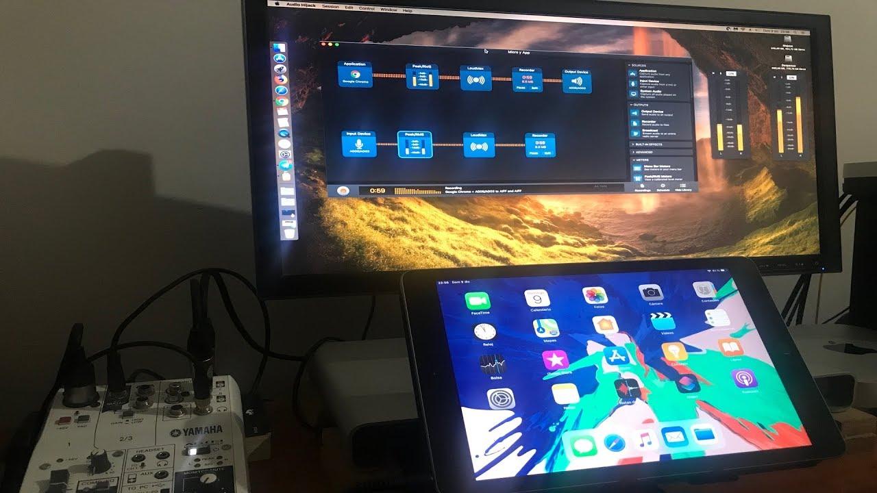 Cómo grabo mis podcasts interactivos (Yamaha AG03/06 + Jitsi + iPad + Audio Hijack + macOS)
