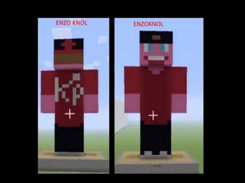 enzoknol skin bouwen (minecraft) - youtube