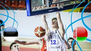 Estonia v Belarus - Full Game - Quarter-Finals - FIBA U18 European Championship Division B 2018