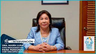 Intervención Dra. María Luisa Piraquive en el #ForoEspañaPCD