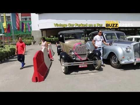 Vintage Car Parked on a Parking Lot @ Hotel Annapurna
