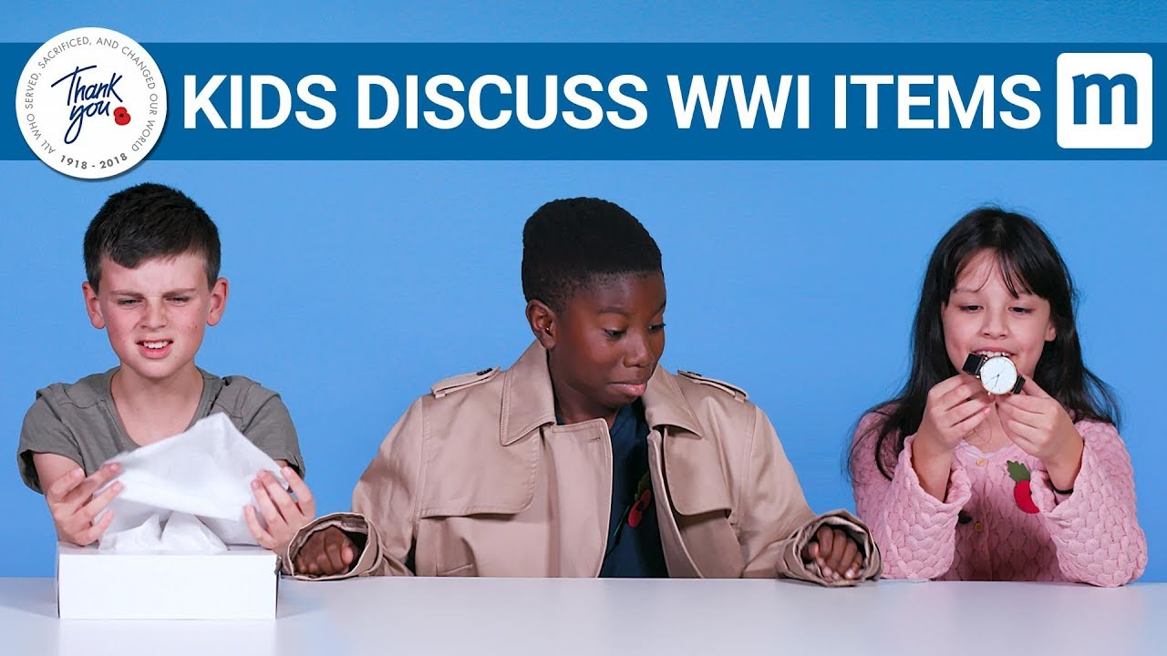 Kids Discuss First World War Items | Royal British Legion