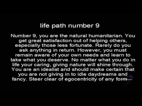 Life Path Number 9 - Numerology Center