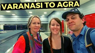 VARANASI TO AGRA TRAVEL DAY | Flying Indigo Air | INDIA