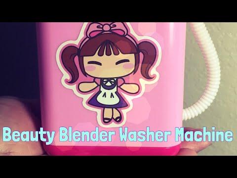 Beauty Blender Washing Machine Review | Wish Mini Washing Machine | Wish App Experiment