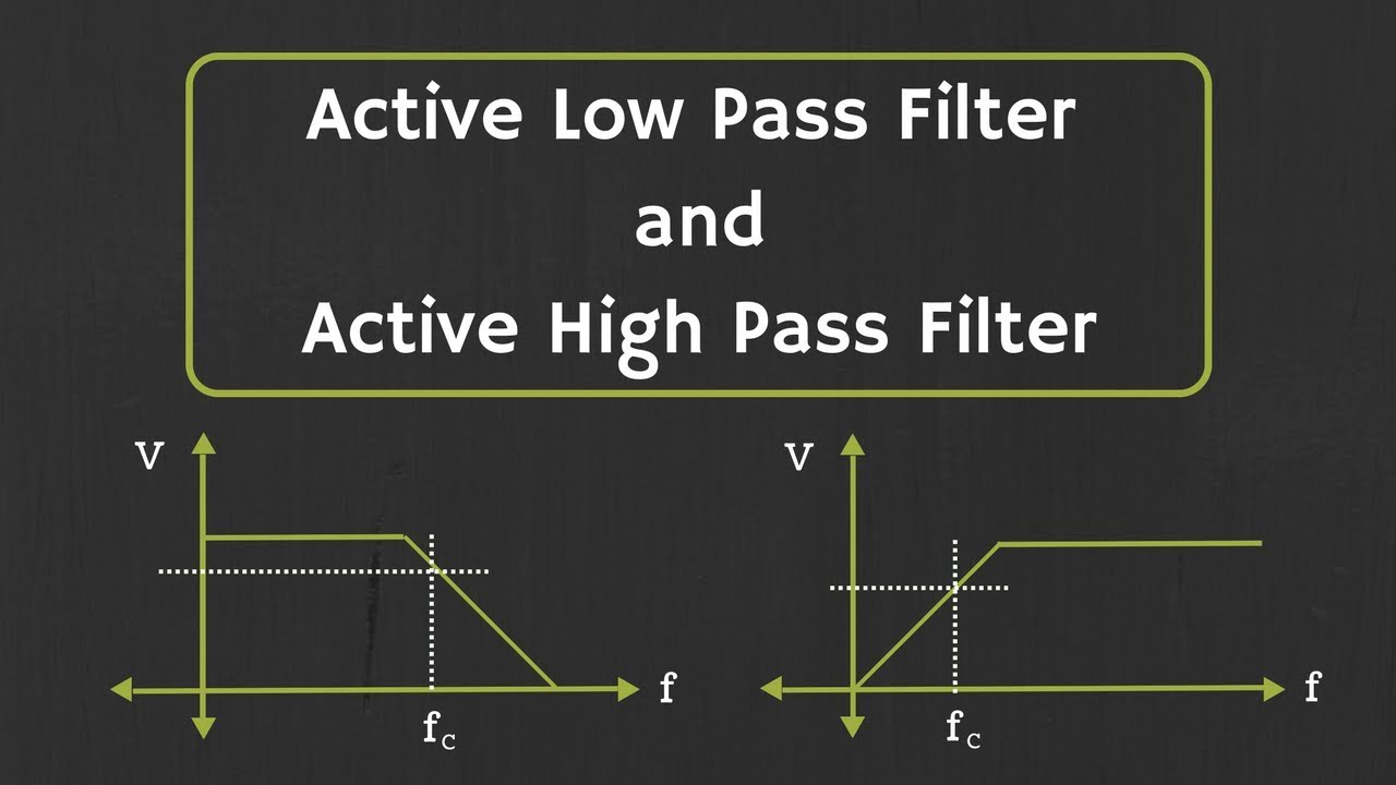 Active Low Pass Filter and Active High Pass Filter Explained