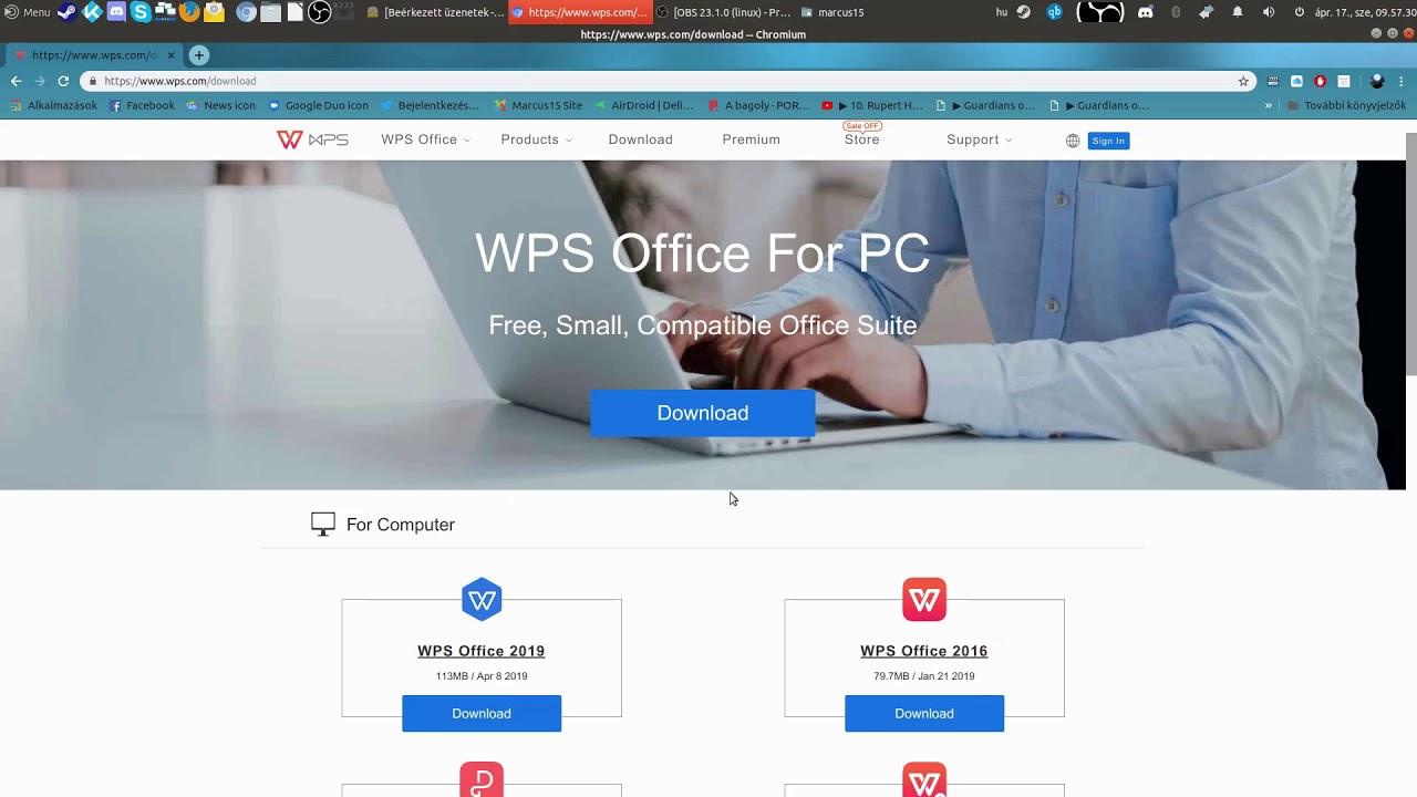 WPS office 2019 Ubuntu 18 04