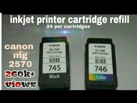Canon pixma mg 2570s/2470 cartridges refill,every inkjet printer cartridge refill 💯% working