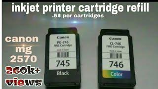 Canon pixma mg 2570s/2470 cartridges refill,every inkjet printer cartridge refill 💯% working