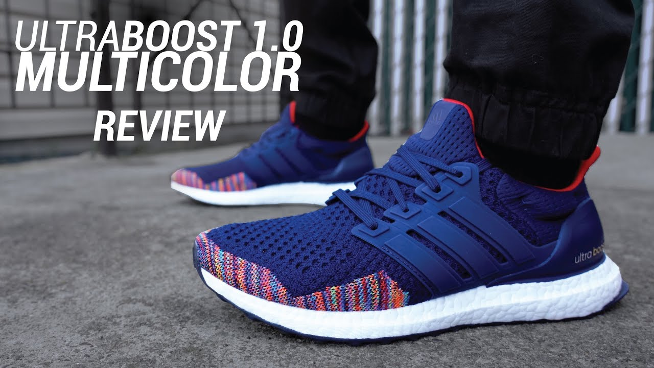 Adidas Ultra Boost 1.0 Navy Multicolor 2018 Restock Review   On Feet ... 22e36f751
