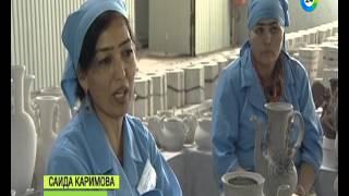 В Таджикистане заработал завод по изготовлению фарфоровых изделий.