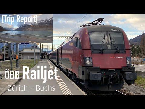 [TRIP REPORT 05] RJX Zürich HB - Buchs SG | ÖBB Railjet Zürich - Wien | Walensee