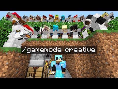Minecraft Manhunt But I Secretly Used CREATIVE Mode..