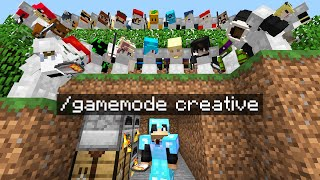 Minecraft Manhunt but i secretly used CREATIVE mode..