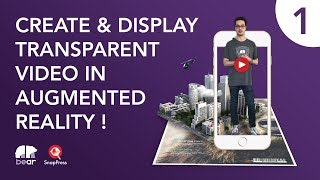 Display video with transparent background in AR - Method 1
