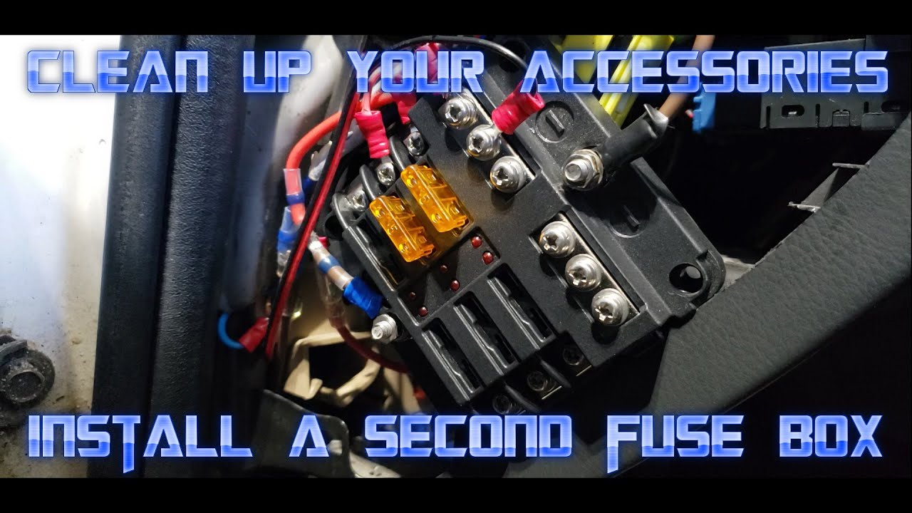 How to Install a Secondary Fuse Box Quickly and Easily (Car Auxiliary Fuse  Box) - YouTube [ 720 x 1280 Pixel ]