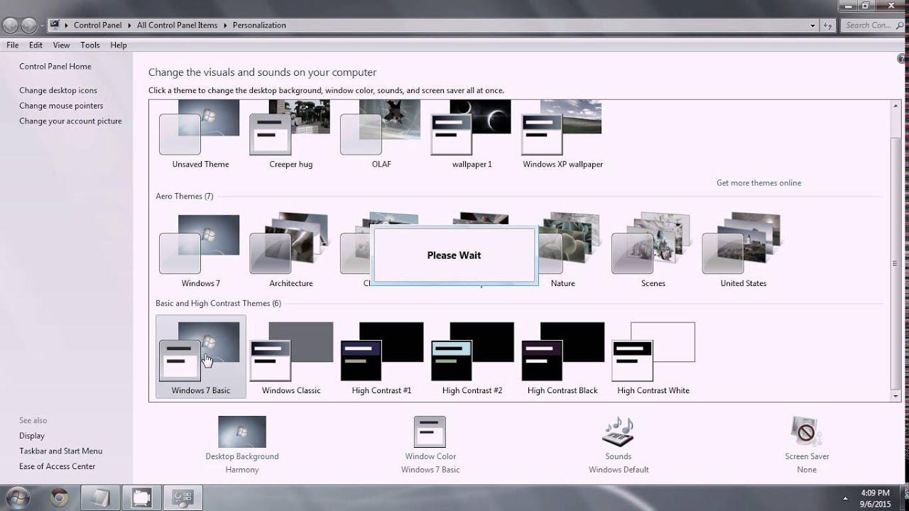 How to enable Windows Aero