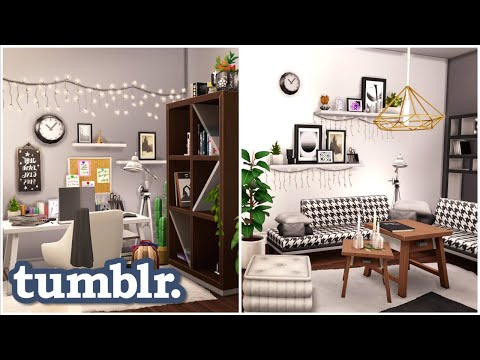 TUMBLR INSPIRED APARTMENT   THE SIMS 4 - Speed Build (NO CC)