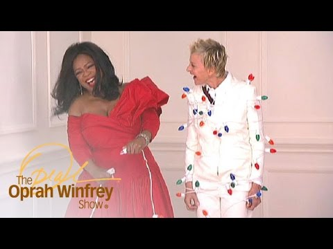 Ellen DeGeneres Gets Wrapped in Christmas Lights | The Oprah Winfrey Show | OWN