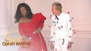 Ellen DeGeneres Gets Wrapped in Christmas Lights | The Oprah Winfrey Show | Oprah Winfrey Network
