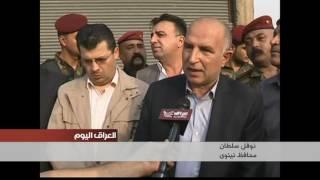 اهالي ناحية القيارة يستقبلون القوات الأمنية بالاهازيج ورفع الاعلام العراقية