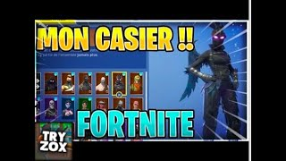 PRESENTATION OF MY FORTNITE CASIER WITH RARE SKINS!