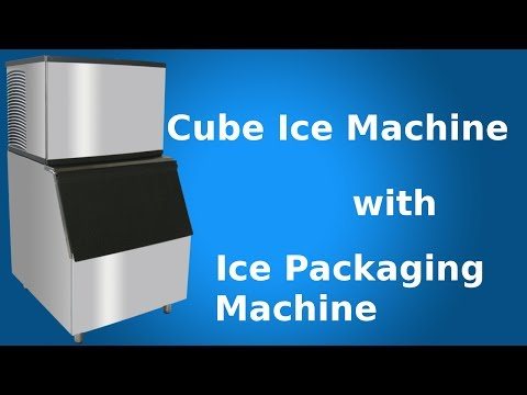 Cube ice maker with ice packaging machine - Focusun Ice Machines
